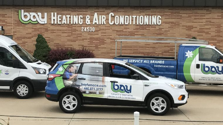 Bay Heating & Air Conditioning Trucks